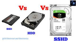 Difference between SSD, HDD, SSHD