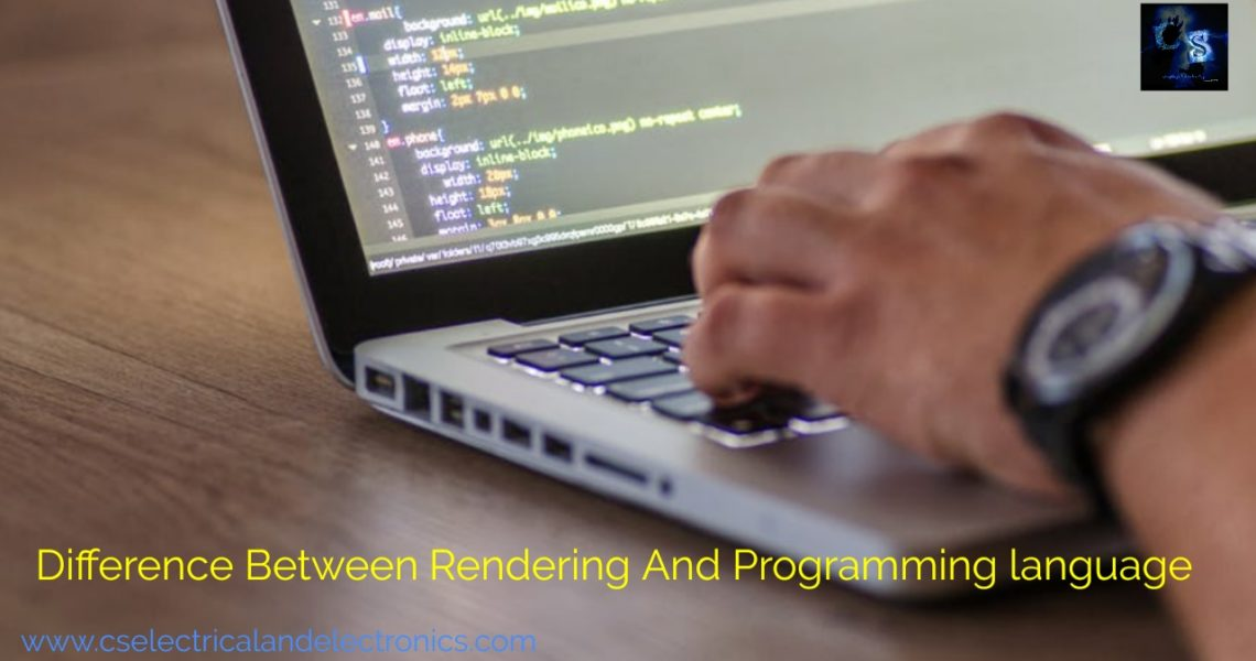 Difference Rendering And Programming Language?