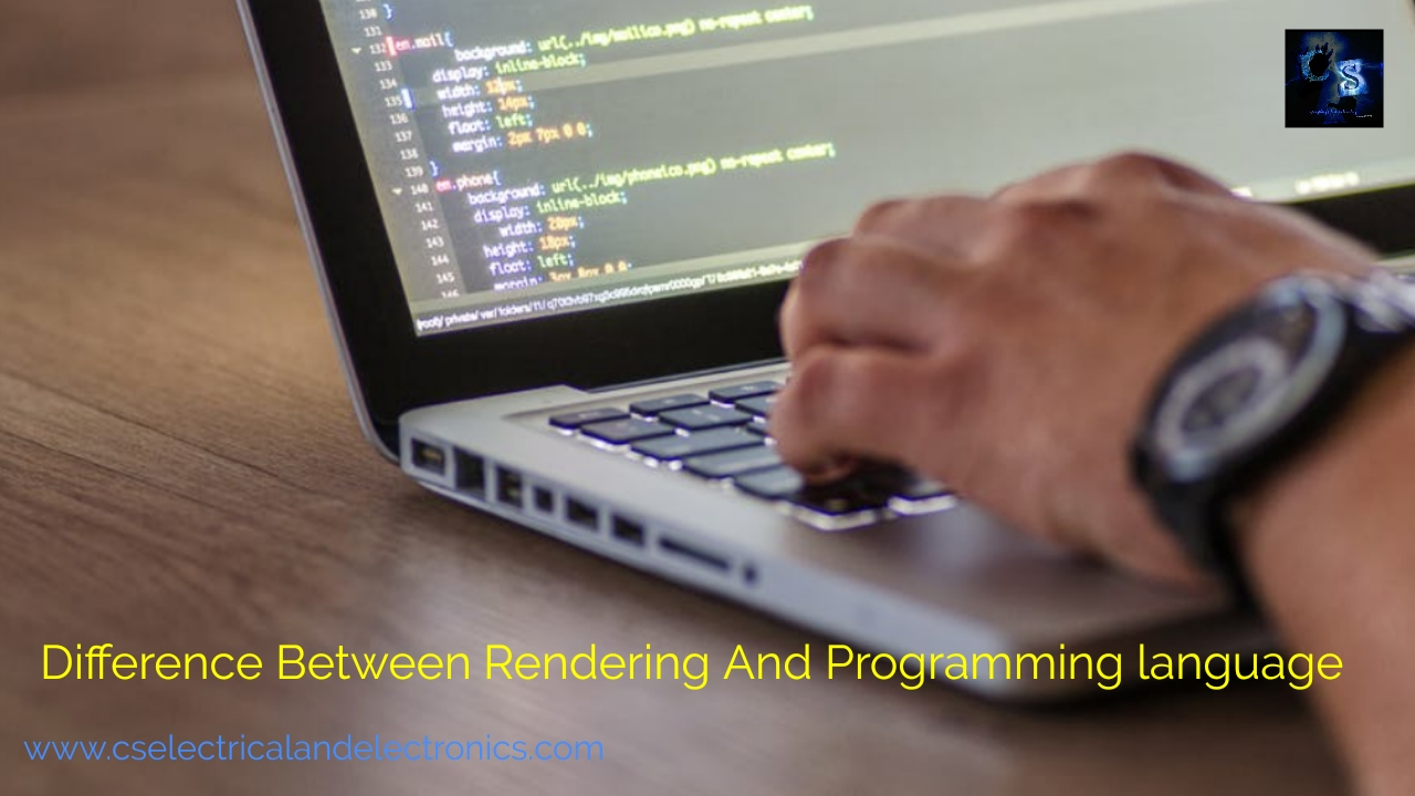 Difference Between Rendering And Programming Language