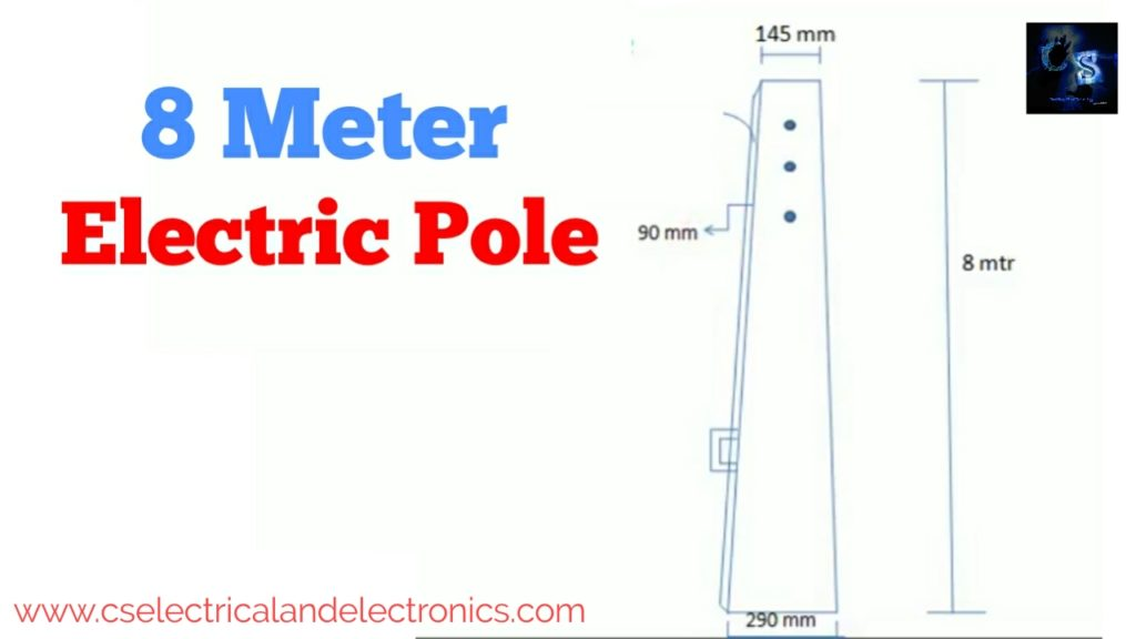 8 Meter Electric Pole