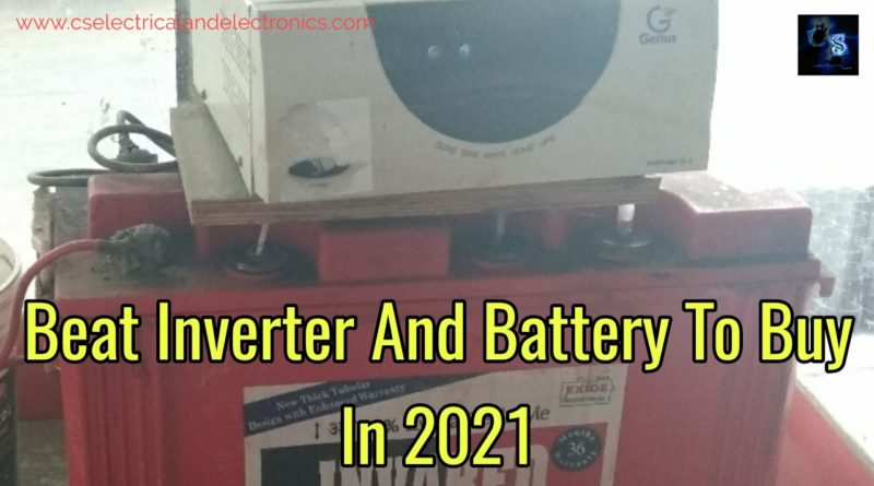 Inverter and battery for house