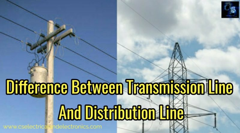 Difference between transmission and distribution lines