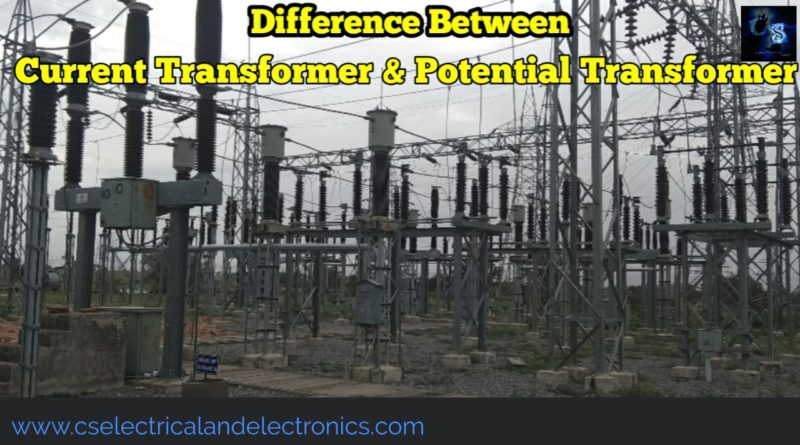 Difference between current and potential transformer