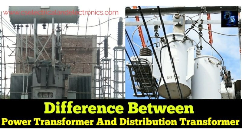 Difference between power transformer and distribution transformer