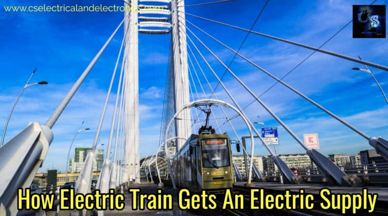 How electric train gets supply