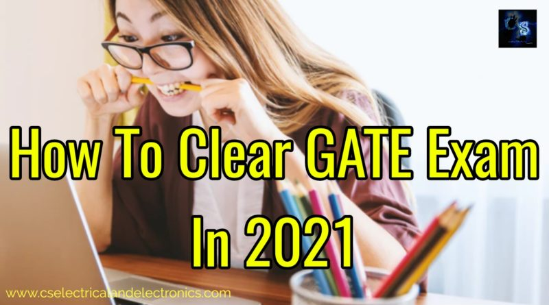 How to clear GATE exam