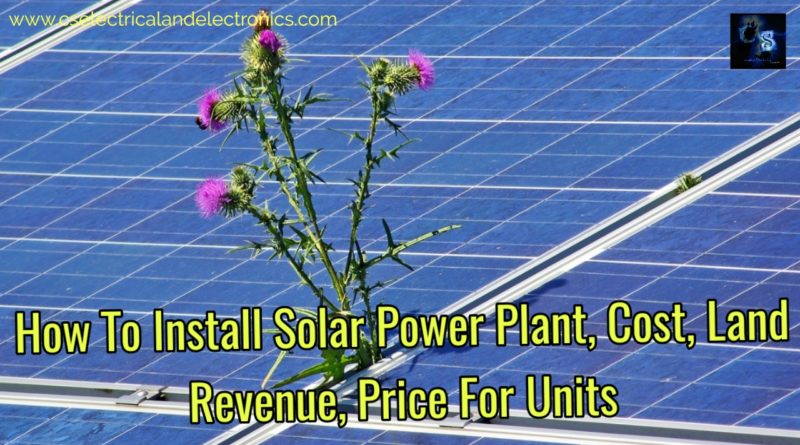 How to install solar power plant