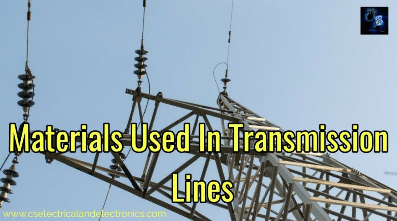 Materials used in transmission lines