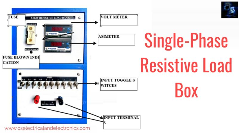 Single phase resistive load box