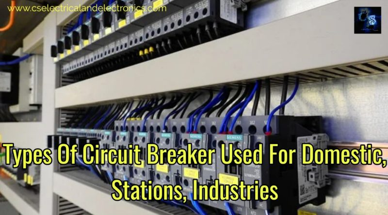Types of circuit breaker