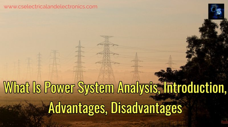 What is power system analysis