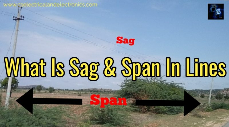 Sag and span in lines