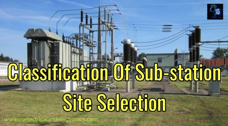 Classification of substation
