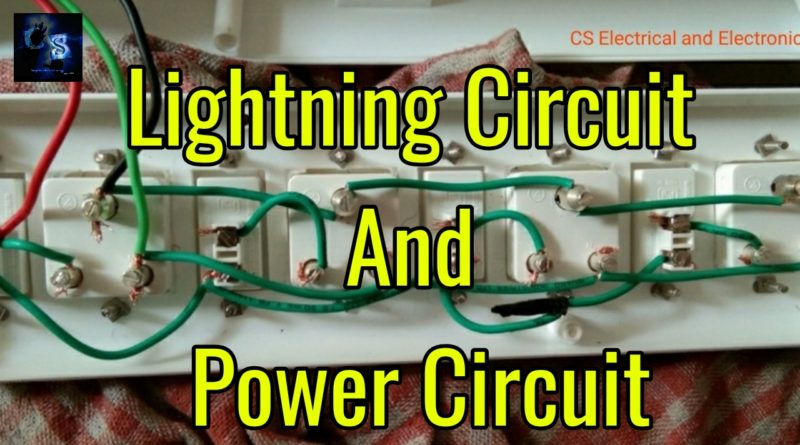lightning circuit and heating circuit