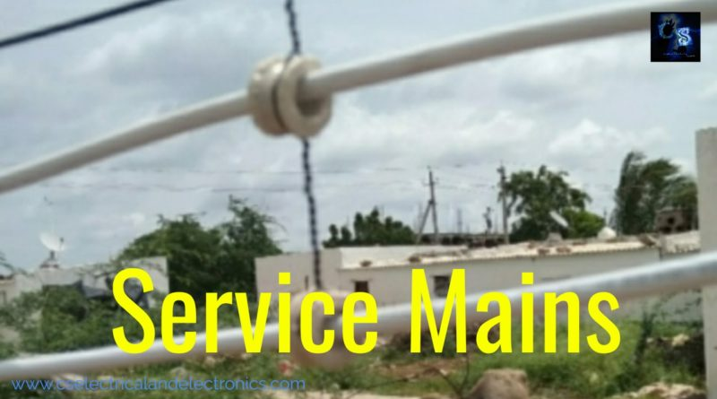 Overhead service mains