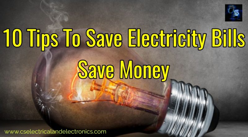 tips to save electricity bills