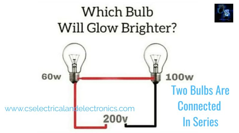 two bulbs are connected in series