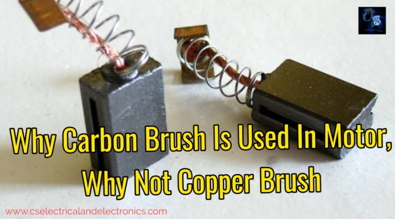 Why carbon brush is used