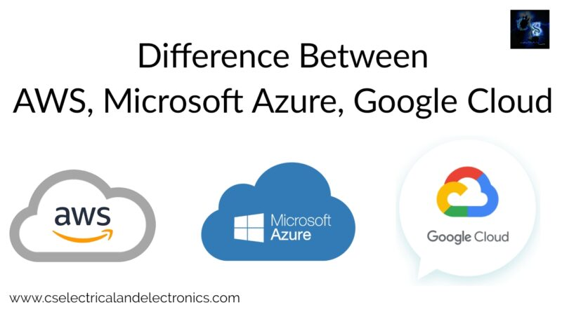 aws, Microsoft Azure, and google cloud