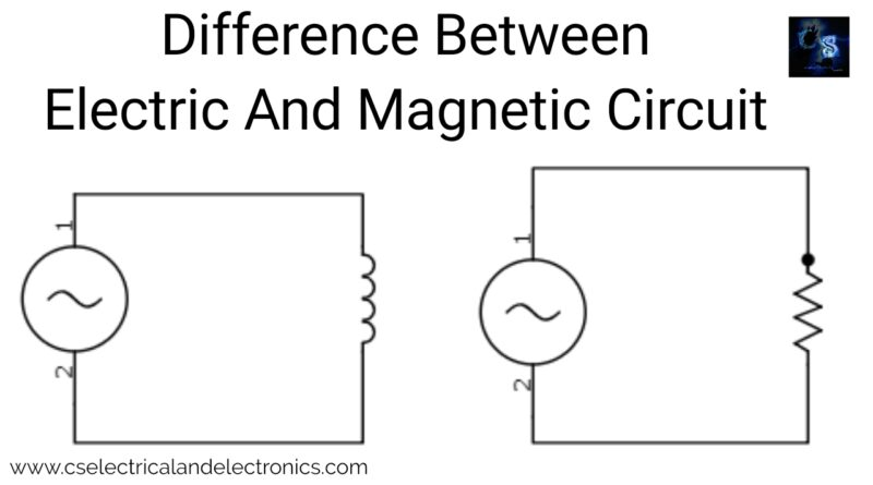 Difference between electric and magnetic circuit.