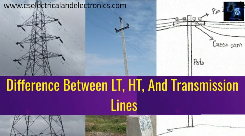 Difference Between LT, HT, And Transmission Lines, Conductors Used
