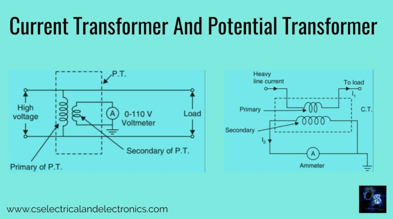 current Transformer and potential Transformer