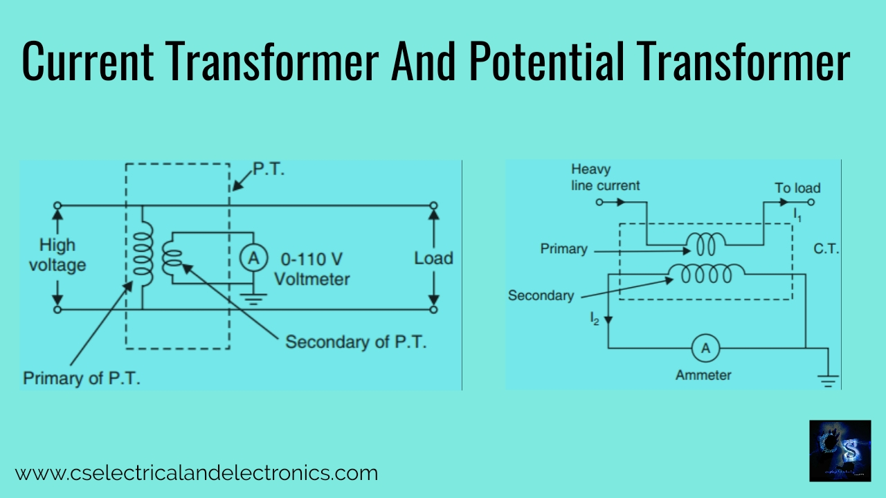 Current Transformer And Potential Transformer, Circuit ...