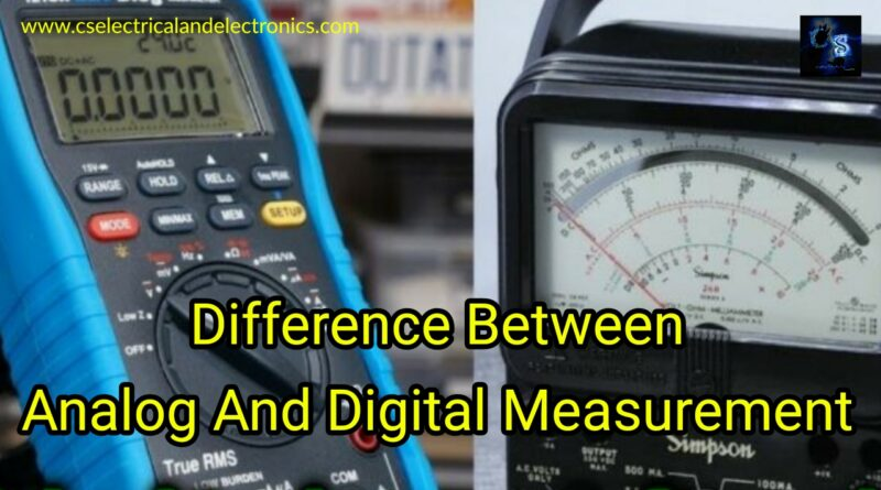 Difference BetweenAnalog And Digital Measurements