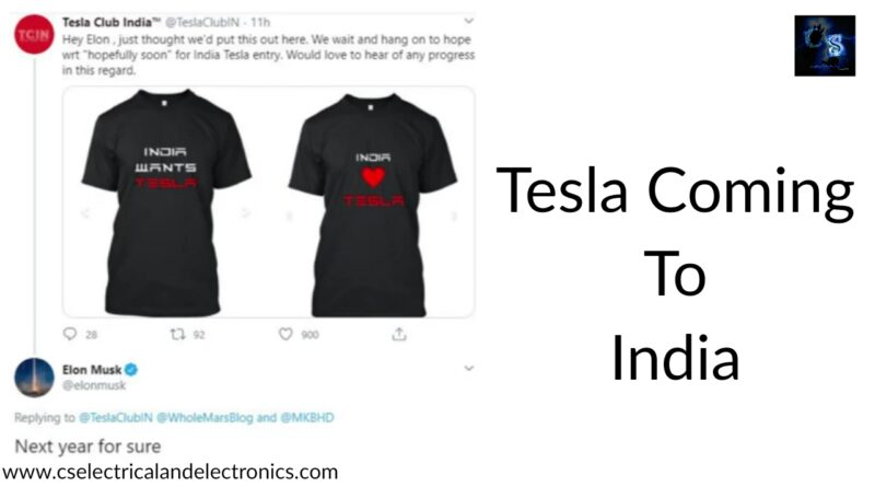 tesla coming to india