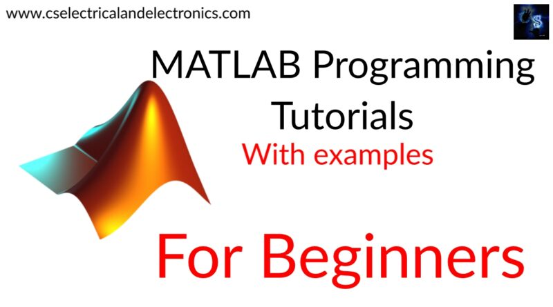 MATLAB Programming tutorials