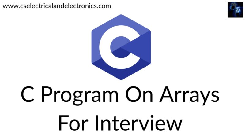 c Program On Arrays