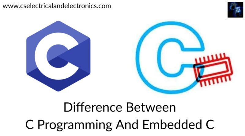 difference between c Programming And Embedded C